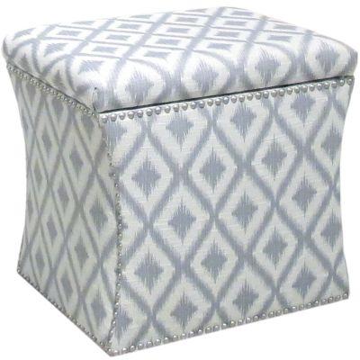 Zoe Storage Ottoman, Grey, swatch