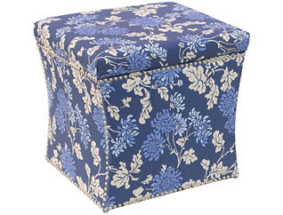 Zoe Storage Ottoman, Blue, , large