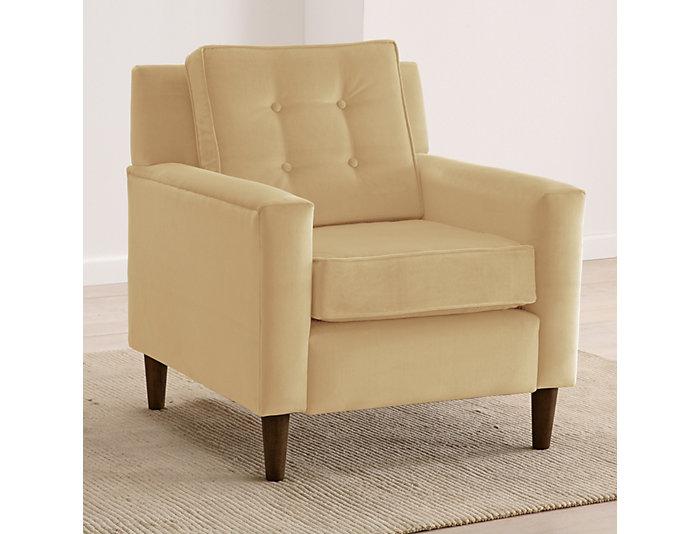Flynn Velvet Chair, Buckwheat/Beige, , large
