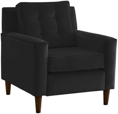 Flynn Velvet Chair, Black, swatch