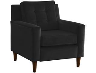 Flynn Velvet Chair, Black, , large