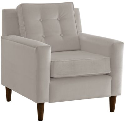 Flynn Velvet Chair, Grey, swatch