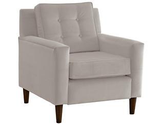 Flynn Velvet Chair, Grey, , large