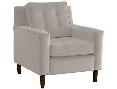 Flynn Velvet Chair, Grey, large