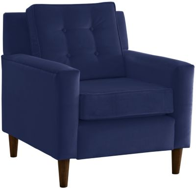 Flynn Velvet Chair, Blue, swatch
