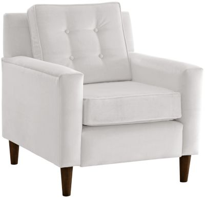 Flynn Velvet Chair, White, swatch