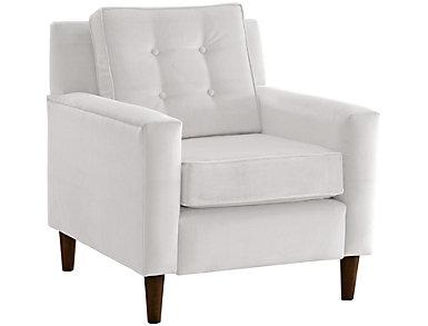 Flynn Velvet Chair, White, large