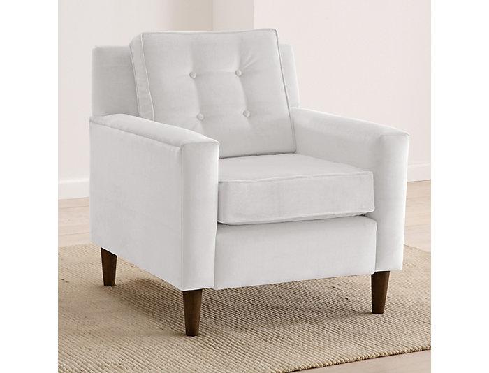 Flynn Velvet Chair, White, , large