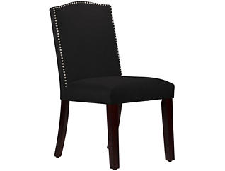 Camel Back Black Dining Chair, , large
