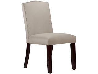 Camel Back Grey Dining Chair, , large
