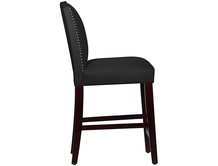 Camel Back Black Counter Stool, , large
