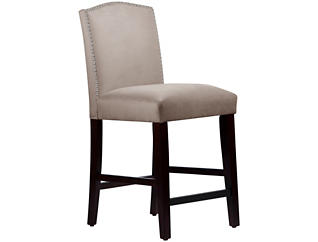 Camel Back Grey Counter Stool, , large