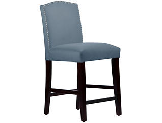 Camel Back Blue Counter Stool, , large