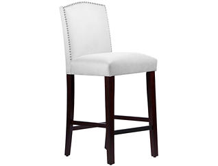 Camel Back White Bar Stool, , large