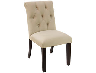 Tufted Rollback Dining Chair, , large