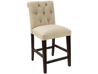 Tufted Rollback Counter Stool, , large