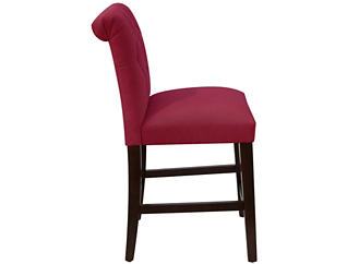 Rollback Counter Stool, Red, large