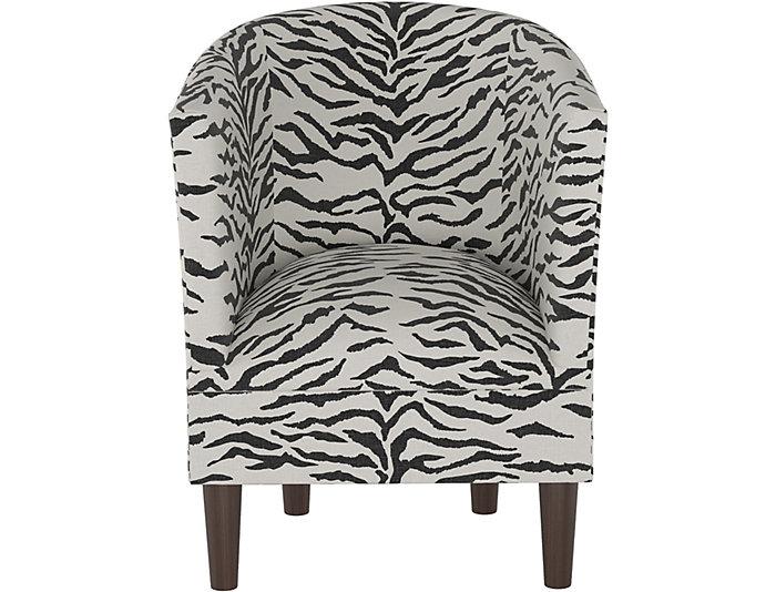 Pleasant Bucktown Zebra Linen Chair Art Van Home Theyellowbook Wood Chair Design Ideas Theyellowbookinfo