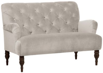 Beatrix Settee, Dove White, swatch