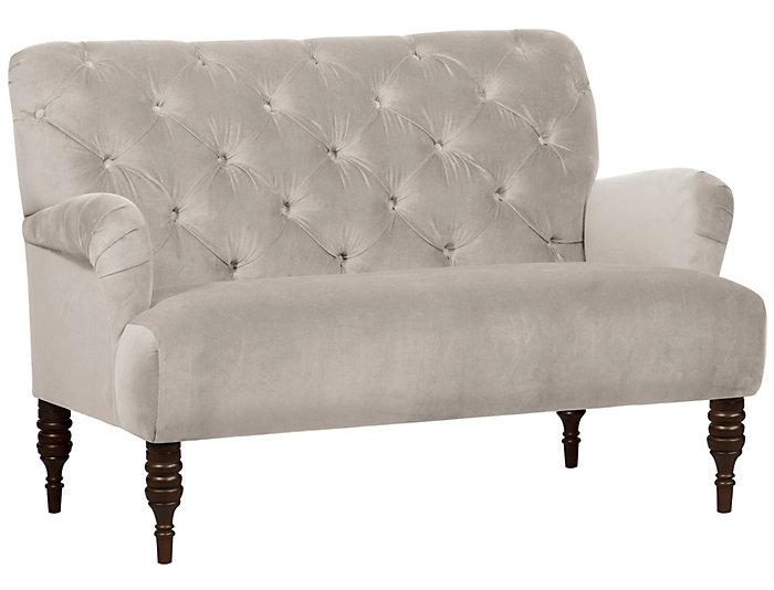 Beatrix Settee, Dove White, Dove White, large