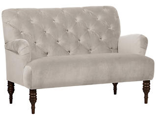 Beatrix Settee, Dove White, large
