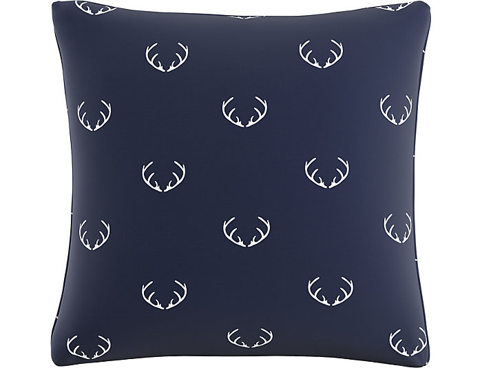 Rudolph Navy 20x20 Down Pillow, , large