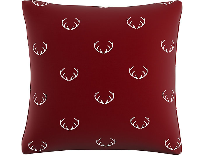 Rudolph Red 20x20 Down Pillow, , large