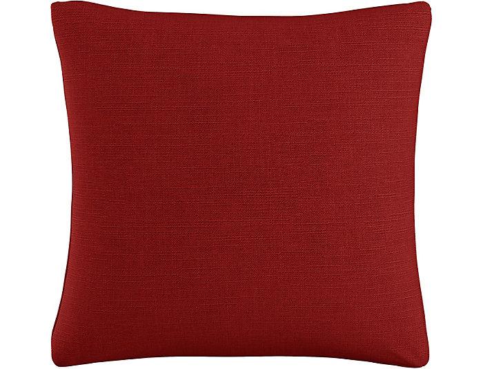 Kris Red 20x20 Down Pillow, , large