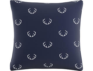Rudolph Navy 20x20 Pillow, , large