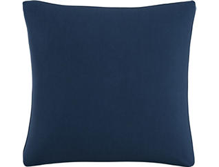 Mary Navy 20x20 Down Pillow, , large