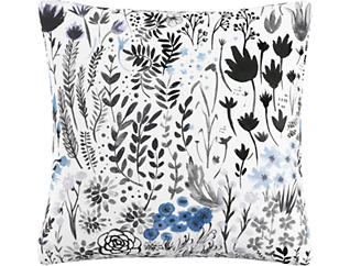 Noelle Blue 20x20 Down Pillow, , large