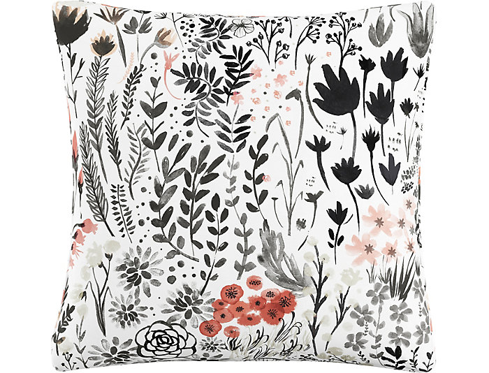 Noelle Red 20x20 Down Pillow, , large