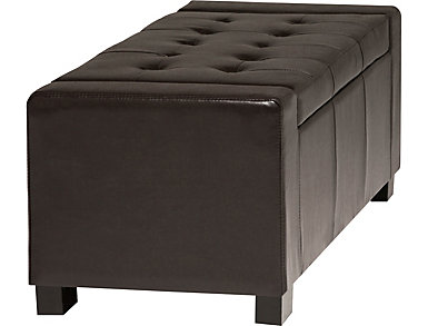 Edson Brown Storage Bench, , large