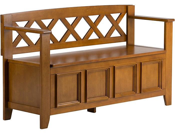 ... Mission Oak Storage Bench, , Large ...