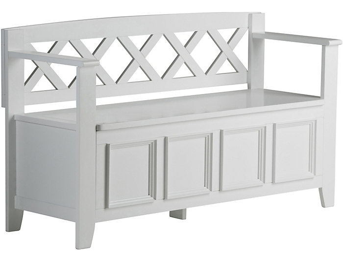 Miraculous Mission White Storage Bench Art Van Home Gmtry Best Dining Table And Chair Ideas Images Gmtryco