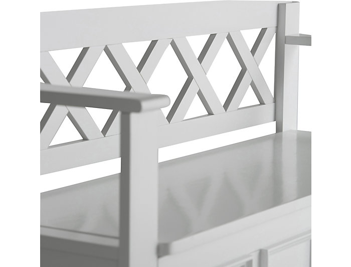 Outstanding Mission White Storage Bench Art Van Home Gmtry Best Dining Table And Chair Ideas Images Gmtryco
