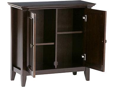 Roslindale Dark Brown Low Storage Cabinet, , large