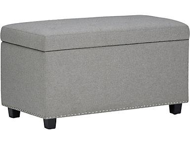 Chardon Grey Storage Bench, , large