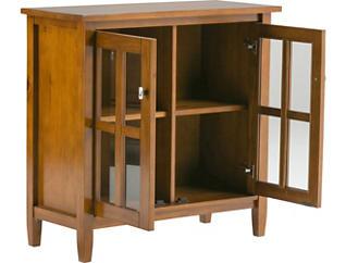 Silva Oak Honey Brown Low Storage Cabinet, , large