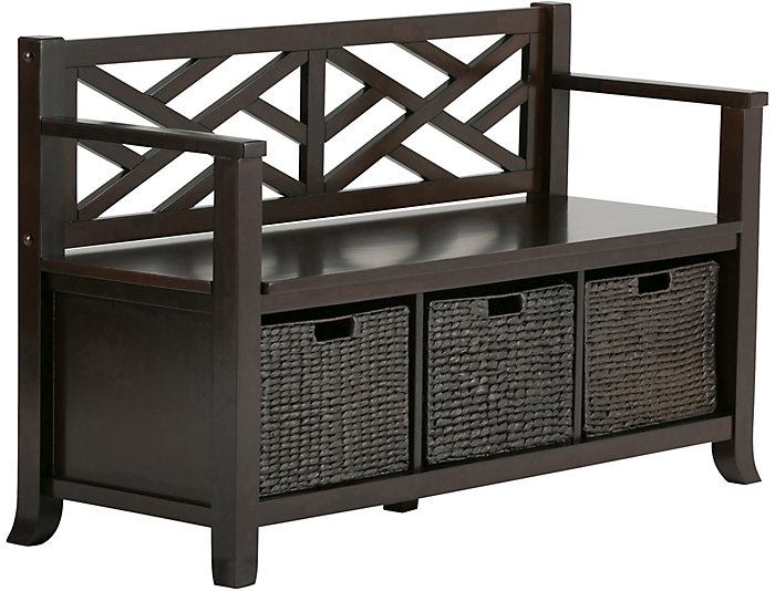 ... Allston Espresso Storage Bench, , Large ...