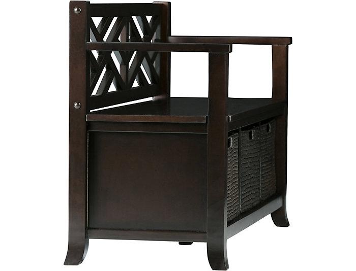 ... Allston Espresso Storage Bench, , Large ...