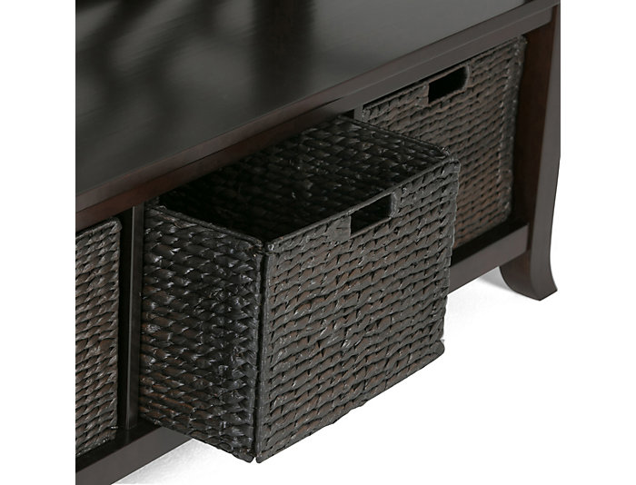 Allston Espresso Storage Bench, , Large ...