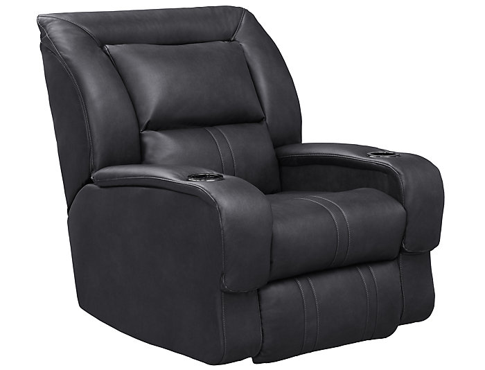 Roxie Grey Home Theater Recliner Large
