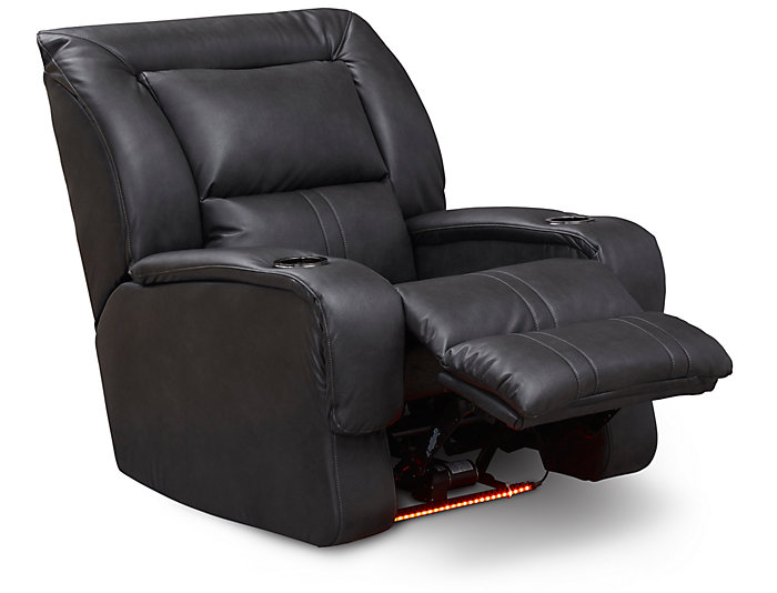 Roxie Power Home Theater Recliner, Grey, , large