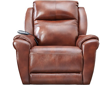 SoCozi Triple Power Rocker Massage Leather Recliner, , large