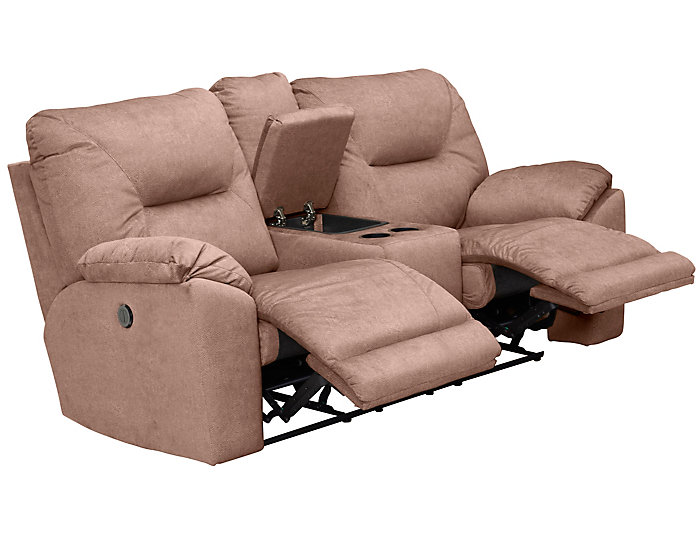 Southern Motion Dynamo Power Console Loveseat, Brown, , large