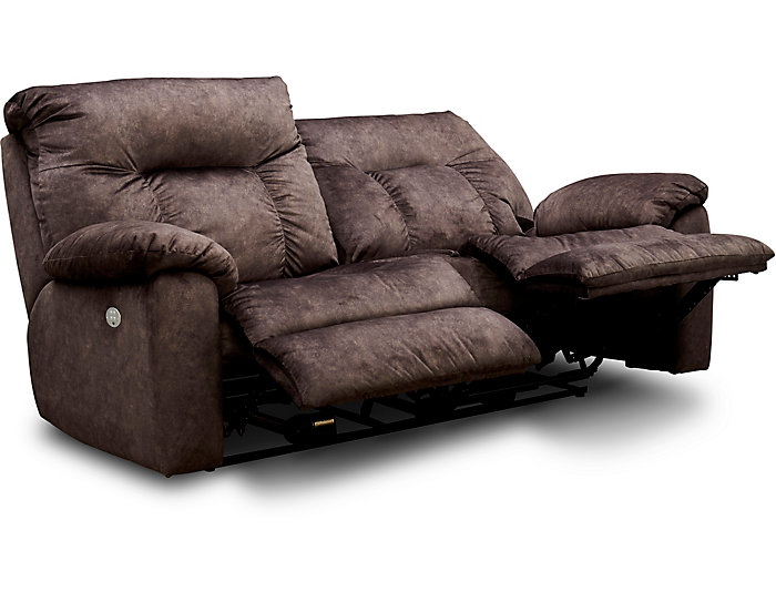 Southern Motion Big Shot Dual Power Reclining Sofa, Chocolate Brown, , large