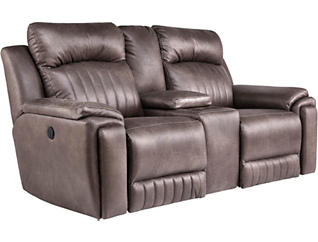 Silver Screen Power Console Loveseat, , large
