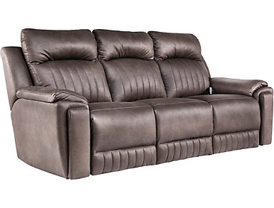 SoCozi Silver Screen Triple Power Reclining Sofa, , large