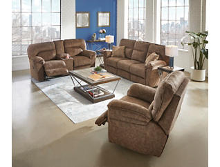 Full Ride Reclining Console Loveseat, , large